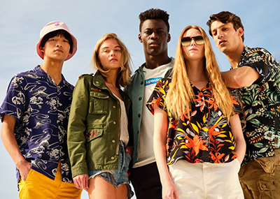 The SS21 Superdry Campaign is a clear inspiration for all moments of freedom to come